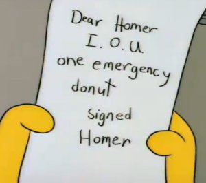 Bad outline homer donut